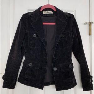 Plugg corduroy black blazer